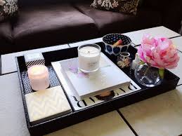 Serving Tray Decoration Ideas Tray style coffee table decorative serving trays for ottomans 37