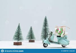 toy motorbike with gifts