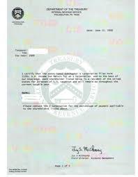 Certificate Of Residency Sample Irs Form 6166 Sample Gallery