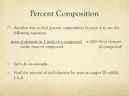 3 percent composition