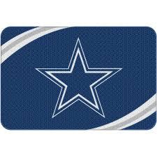 nfl dallas cowboys 20 x 30 round edge bath rug com
