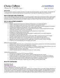 Alluring Ministry Resume Objective In Youth Ministry Resume