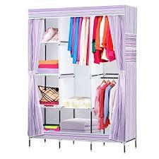 clothes storage cabinet. Modren Cabinet NEX Wardrobe DIY Clothes Storage Cabinet Portable Tool Organizer Bedroom  Closet Doll CollectionPurple And O