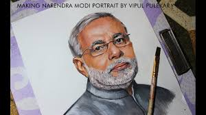 how to draw pm narendra modi of india 2016 narendra modi portrait painting in water colours you