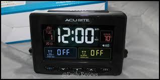 acurite clock acurite atomic clock with usb charger dual alarm