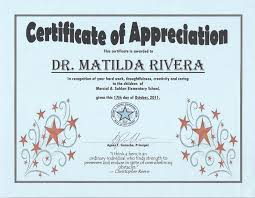 Ideas Collection Certificate Of Appreciation For Teachers With ...