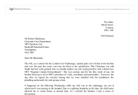 Formal Letters Of Complaint Letter Of Complaint Gcse English Marked By Teachers Com