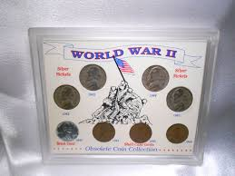 Obsolete Coin Collection World War Ii 8pc Set In
