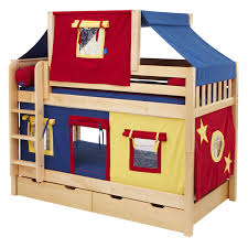 assorted color tent on the cream wooden bunk bed combined with f door and windows bunk bed deluxe 10th