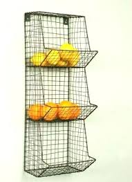 wire fruit and vegetable holder kitchen wall storage ideas best countertop