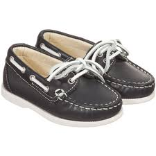 il gufo boys navy blue white leather loafers childrensalon