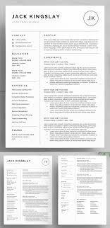 Best Business Resume Template 30 Best Word Resume Templates Design Graphic Design Junction