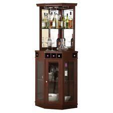 Image Wet Bar Corner Bar Unit Incabinet Wine Rack Liquor Buffet Wood Pub Furniture For Home Ebay Home Corner Bars With Storage Ebay