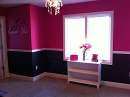 Hot pink & black girl's room. (The top is Behr