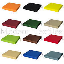 O WATERPROOF Chair Cushion Seat Pads OUTDOOR Tie On Garden Patio REMOVABLE  COVER
