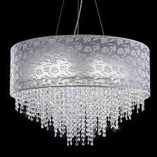 violet of antea light modern chandelier with lamp shade lace and crystal cascade
