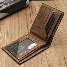 fashion mens leather wallet card holder coin purse pocket coffee