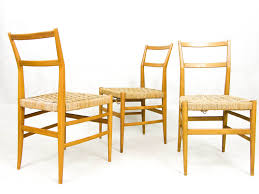 3 x leggera dinner chair by gio ponti for cassina 1950s