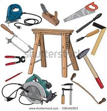 carpenter tools drawings. vector illustration, carpenter tools, cartoon concept, white background. tools drawings