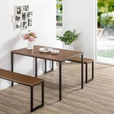 modern kitchen table with bench. Alluring Dining Room Furniture Bench Seating Modern Table With Plank Medium Yellow Wood Granite For 2 Pine Small Standard Laminated Kitchen