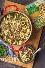buitoni tortellini and buitoni pesto in a en tortellini soup