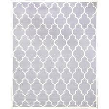 gray moroccan bath rug trellis wool 8 x handmade