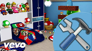 Mario Bedroom Wallpaper Most Amazing Super Mario Brothers Bedroom Ever Youtube Within
