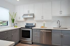 modern white and gray kitchen. Full Size Of Kitchen:light Grey Kitchen Cabinets Painted And White Modern Gray