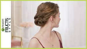 textured twisted updo hair tutorial for short hair prom hairstyles garnier fructis style