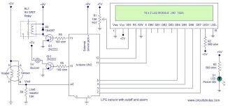 lpg sensor using arduino cut off and alarm lpg concentration circuit diagram lpg gas sensor using arduino