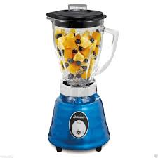 osterizer 4094 blue beehive style blender 5 cup glass pitcher nice 220 volts not for usa