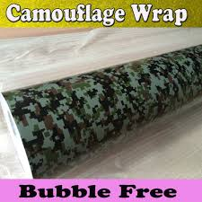 2018 high quality digital pixel camouflage vinyl wrap camo car covering air bubble free size camo sticker 1 52x30m roll fedex from bestcarwrap