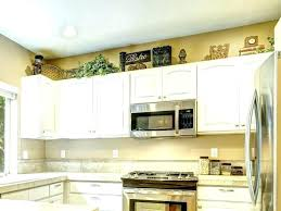 top of cabinet decorating kitchen decoration cabinets royal blue andsilver tips for tops modern decorating