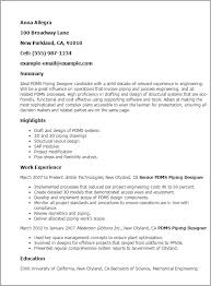 Pdms Piping Designer Resume Template Best Design Tips