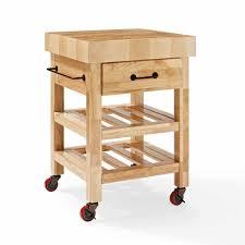 Crosley Furniture Kitchen Cart Crosley Furniture Marston Butcher Block Kitchen Cart Walmartcom