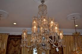 antique baccarat chandelier shades
