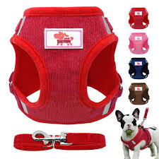 Red Hibiscus Dog Harness Step In Canvas Mesh Ez Wrap No