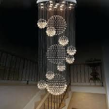 crystal chandelier modern large crystal chandelier light fixture foyer long spiral crystal light re ceiling