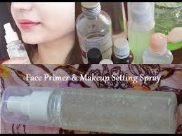 how to make a face primer and makeup setting spray for face glow you