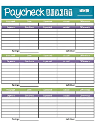 Livin Paycheck To Paycheck Free Printable Budget Form