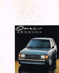 Details About Big 1987 Dodge Omni America Brochure Catalog With Color Chart Specs