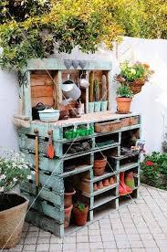pallet furniture garden. #12 Gardening Office Corner Made From Wooden Pallets Pallet Furniture Garden