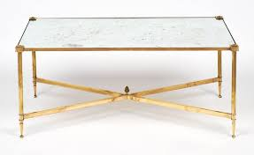 neoclassical art deco maison bagues brass coffee table for
