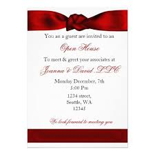 Opening Invitation Card Sample Red Elegant Corporate Party Invitation Open House Invitation