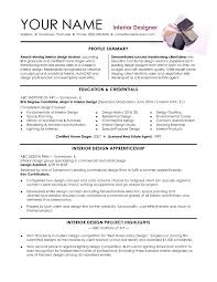Cover Letter Interior Design Interior Design Resumes Interior Design Resume Template Word Sample