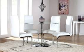 round glass dining table creative and chairs room tables wonderful black decor