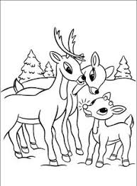 Small Picture Clarice Reindeer Coloring Pages Rudolph Rudolph and Clarice