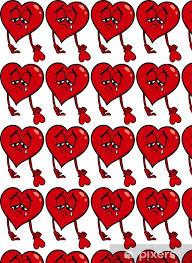 sad broken heart cartoon ilration