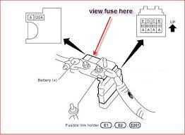 nissan main fuse data wiring diagrams \u2022 2004 nissan sentra fuse box layout where is the main fuse for a 2004 nissan sentra and how do i change it rh justanswer com nissan battery fuse 2007 nissan quest fuse box