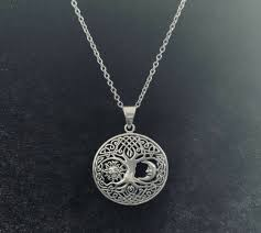 handcast sterling silver celtic tree of